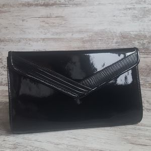 🔴Vintage Black Patent Evening Bag Clutch